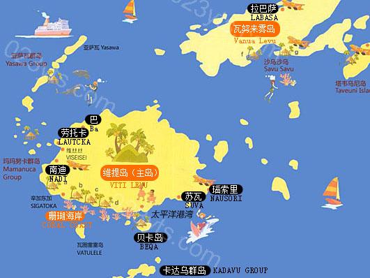 斐济亚博体育app下载地址地图